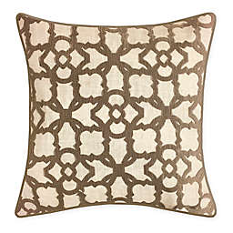 New York Botanical Garden® Square Throw Pillow in Taupe