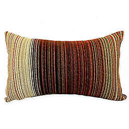 Snowshoe Oblong Throw Pillow in Red
