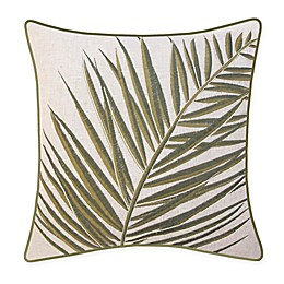 New York Botanical Garden Fern Square Throw Pillow in Green