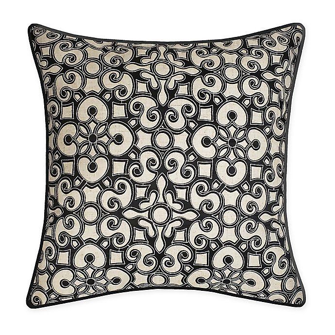Alternate image 1 for New York Botanical Garden® Global Appliqué Square Throw Pillow in Black