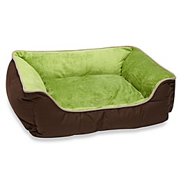 K&H Small Self-Warming Pet Lounge Sleeper in Mocha/Green