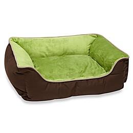 K&H Small Self-Warming Pet Lounge Sleeper in Mocha/Green