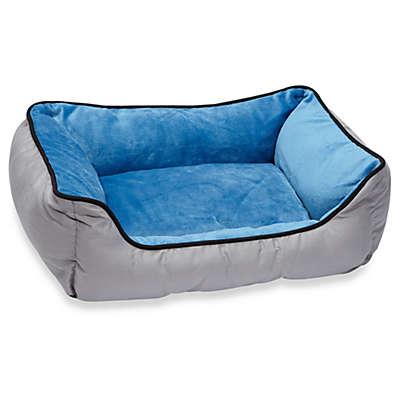 K&H Small Self Warming Lounge Sleeper in Grey/Blue