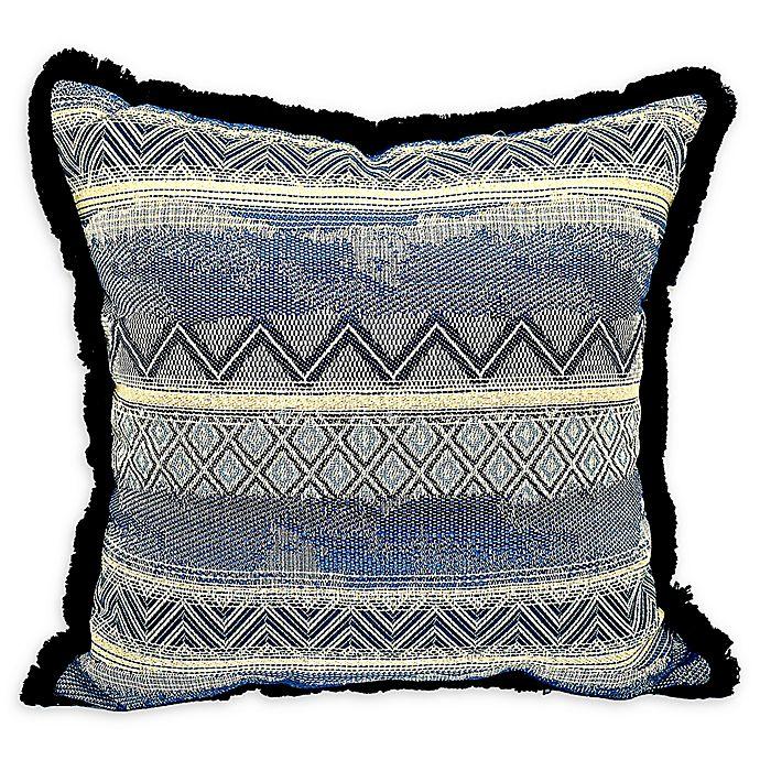 Alternate image 1 for Jakobe Square Throw Pillow in Indigo