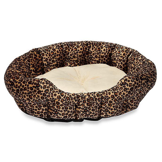 Alternate image 1 for K&H Self-Warming Pet Nuzzle Nestin Leopard