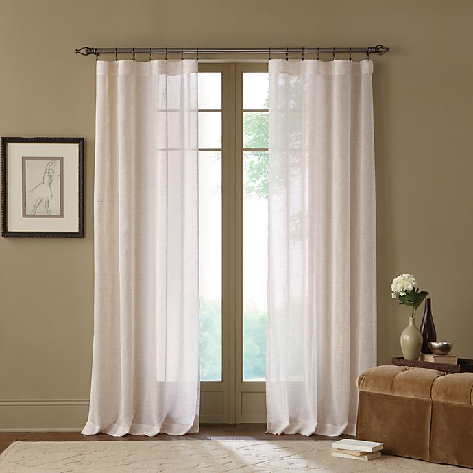 Alternate image 1 for Cambria® Terra 108-Inch Rod Pocket Sheer Window Curtain Panel in Natural