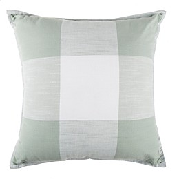 Exploded Plaid Square Throw Pillow in Mint