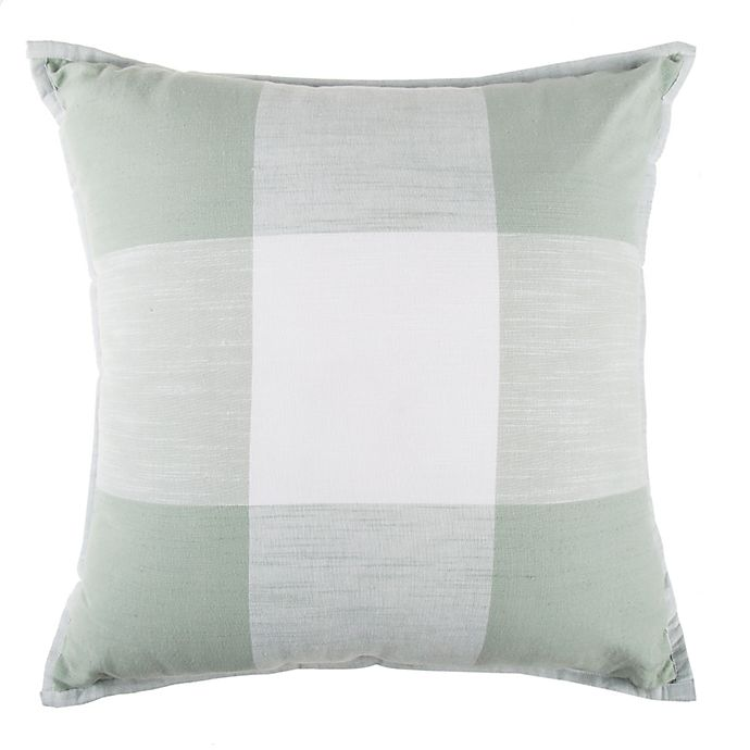 Alternate image 1 for Exploded Plaid Square Throw Pillow in Mint