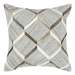 Rizzy Home Donny Osmond Square Throw Pillow in Natural/Black