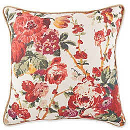 Marlowe Cabbage Print Square Throw Pillow