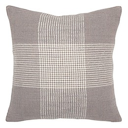 Rizzy Home Woven Plaid  Throw Pillow
