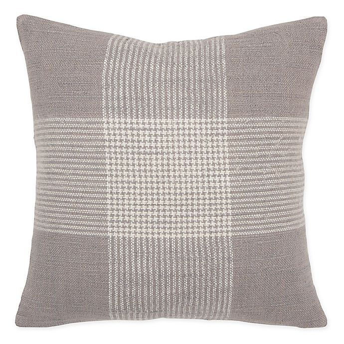 Alternate image 1 for Rizzy Home Woven Plaid  Throw Pillow