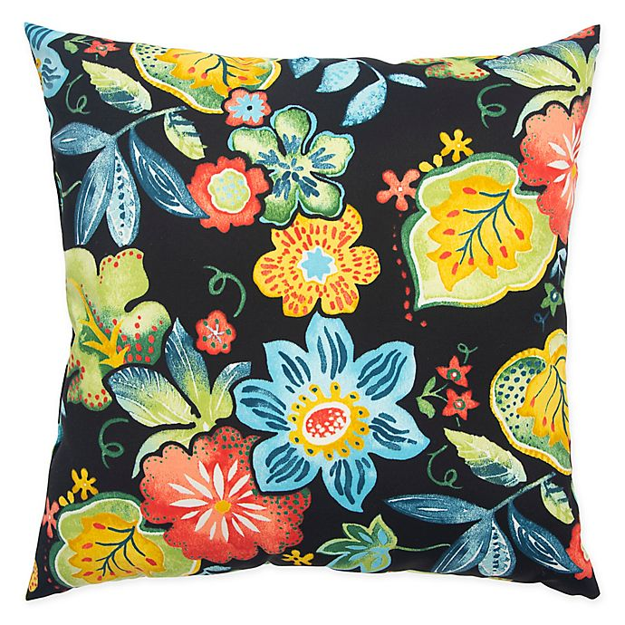 Alternate image 1 for RIzzy Home Floral Square Throw Pillow