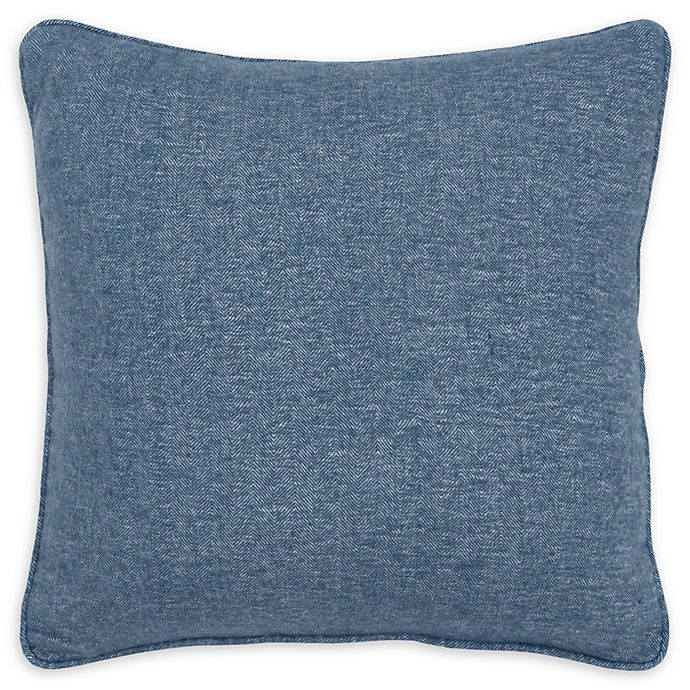 Alternate image 1 for Rizzy Home Solid Pintucked Square Throw Pillow
