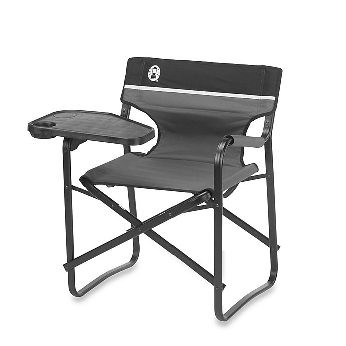 Alternate image 1 for Coleman® Aluminum Deck Chair with Swivel Table