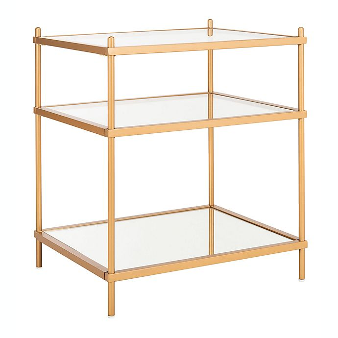 Alternate image 1 for Safavieh Noelia Glass & Metal Accent Table in Gold