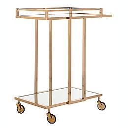 Safavieh Capri Mirrored Bar Cart in Gold