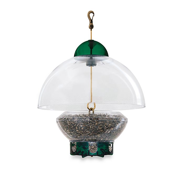 Alternate image 1 for Droll Yankees® 15-Inch Big Top Squirrel-Proof Green Bird Feeder