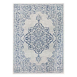 Bee & Willow™ Home Cloudland Indoor/Outdoor Area Rug in Blue