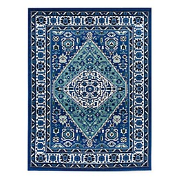 Bee & Willow™ Home Azalea Indoor/Outdoor Area Rug in Blue
