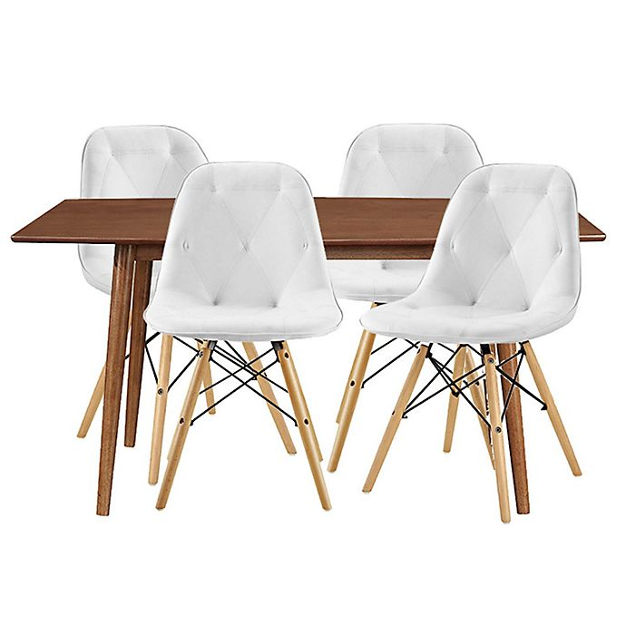 Alternate image 1 for Forest Gate Eames 5-Piece Midcentury Modern Dining Set in White