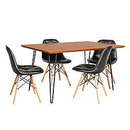 Forest Gate™ Eames Dining Set in Black/Walnut