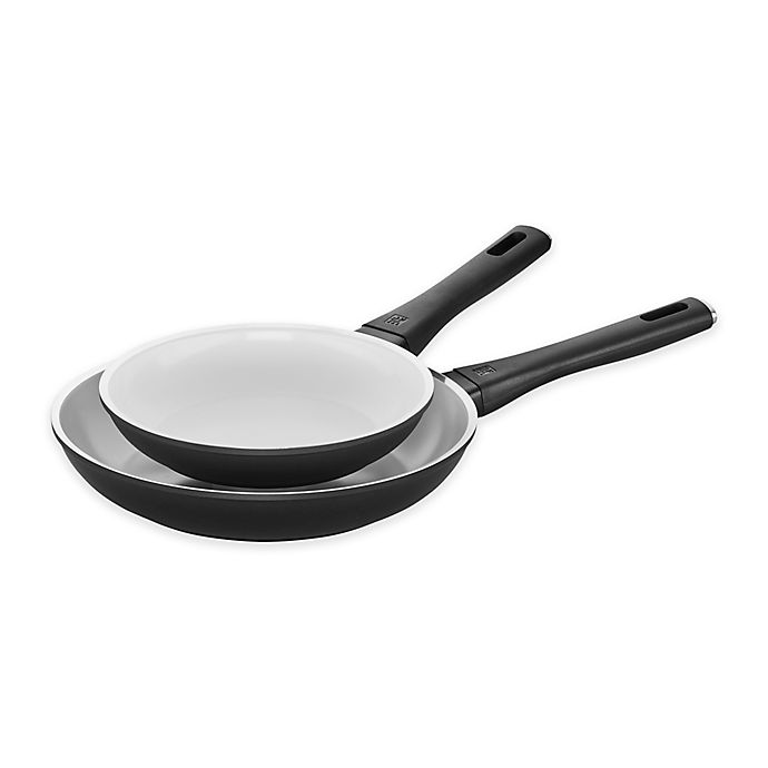 Alternate image 1 for Zwilling® J.A. Henckels Carrara Ceramic Nonstick Aluminum 8-Inch and 10-Inch Fry Pan Set