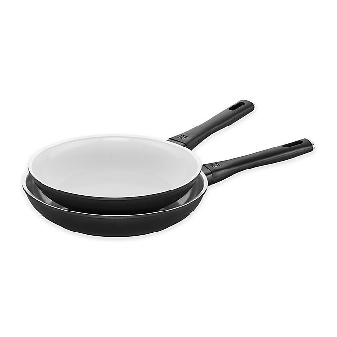 Alternate image 1 for Zwilling® J.A. Henckels Carrara Ceramic Nonstick Aluminum 10-Inch and 11-Inch Fry Pan Set
