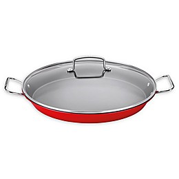 Cuisinart® Non-Stick 15-Inch Covered Paella Pan in Red