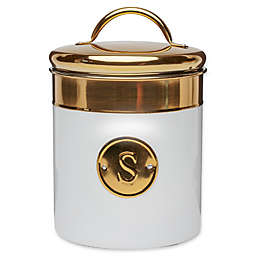 Global Amici Sugar Stainless Steel Canister in White/Gold