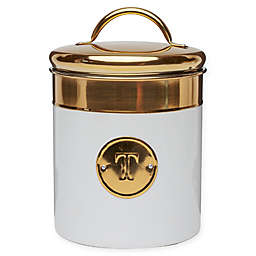 Global Amici Simone Stainless Steel Canister in White/Gold