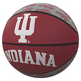 Indiana University Repeat Logo Mini Rubber Basketball
