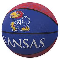 University of Kansas Repeat Logo Mini Rubber Basketball