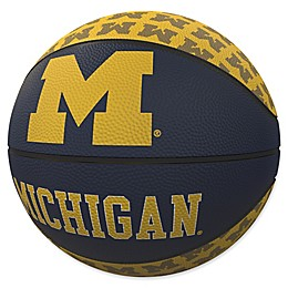 University of Michigan Repeat Logo Mini Rubber Basketball