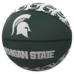 Michigan State University Repeat Logo Mini Rubber Basketball