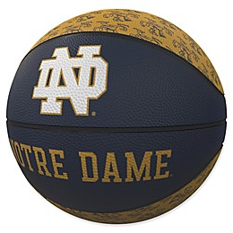 University of Notre Dame Repeat Logo Mini Rubber Basketball
