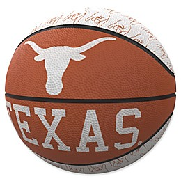 University of Texas Repeat Logo Mini Rubber Basketball
