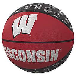 University of Wisconsin Repeat Logo Mini Rubber Basketball
