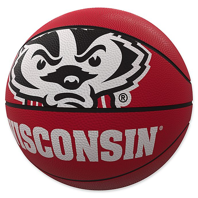 Alternate image 1 for University of Wisconsin Mascot Official-Size Rubber Basketball