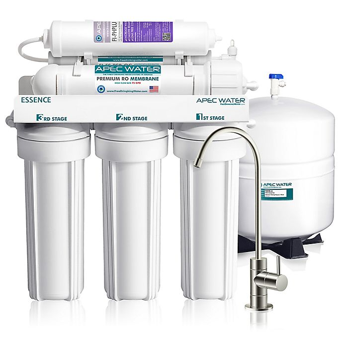 Alternate image 1 for APEC Water Essence 75 GPD pH+ Alkaline Under-Sink Reverse Osmosis Water Filtration System
