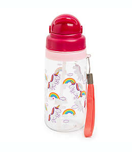 Botella con popote Manna™ Ollie de unicornios, 532.32 mL