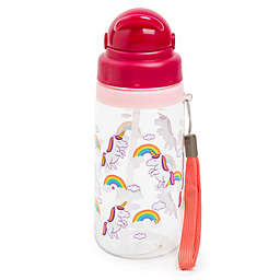 Manna™ Ollie 18 oz. Unicorn Water Bottle with Straw in Green