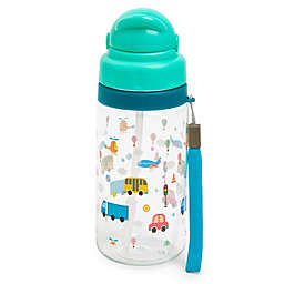 Manna™ Ollie 18 oz. Cars Water Bottle with Straw in Green