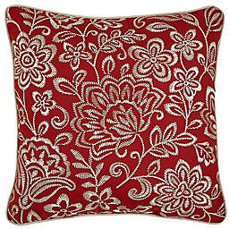 Croscillreg Adriel Embroidered Floral Square Throw Pillow