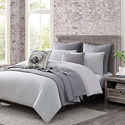 Wamsutta Logan King Comforter Set in Grey/White