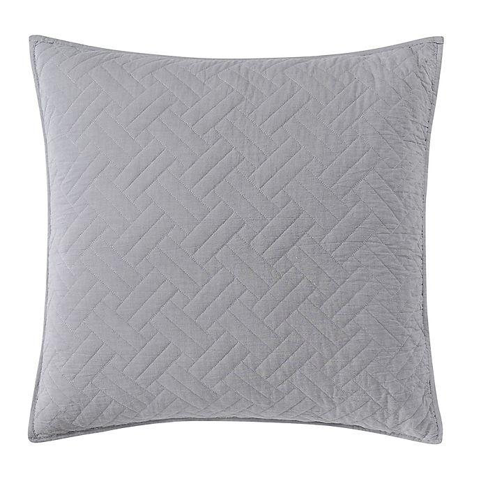 Alternate image 1 for Wamsutta Logan European Pillow Sham in Grey