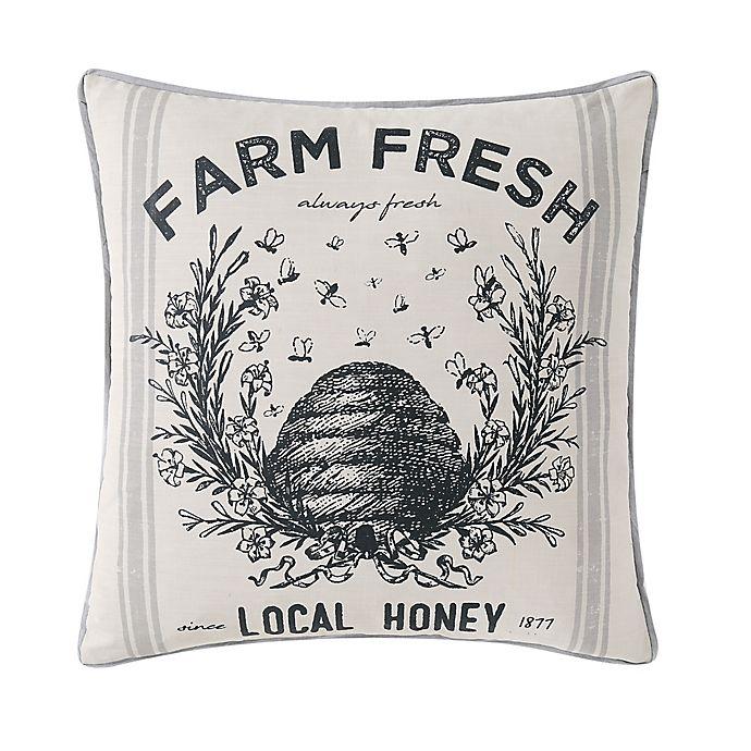 Alternate image 1 for Wamsutta Logan Square Throw Pillow in Grey