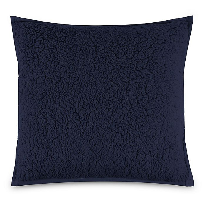 Alternate image 1 for UGG® Classic Sherpa Square Throw Pillow in Navy