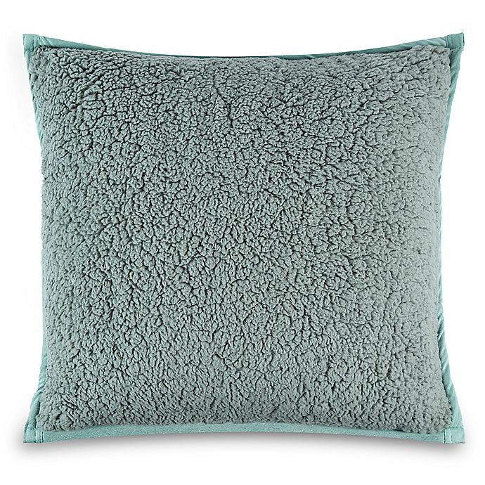 Alternate image 1 for UGG® Classic Sherpa Square Throw Pillow in Sea Green