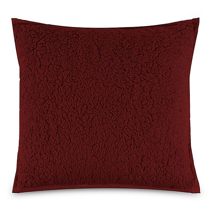 Alternate image 1 for UGG® Classic Sherpa Square Throw Pillow in Redwood